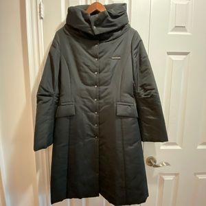 Knee length light weight padded jacket
